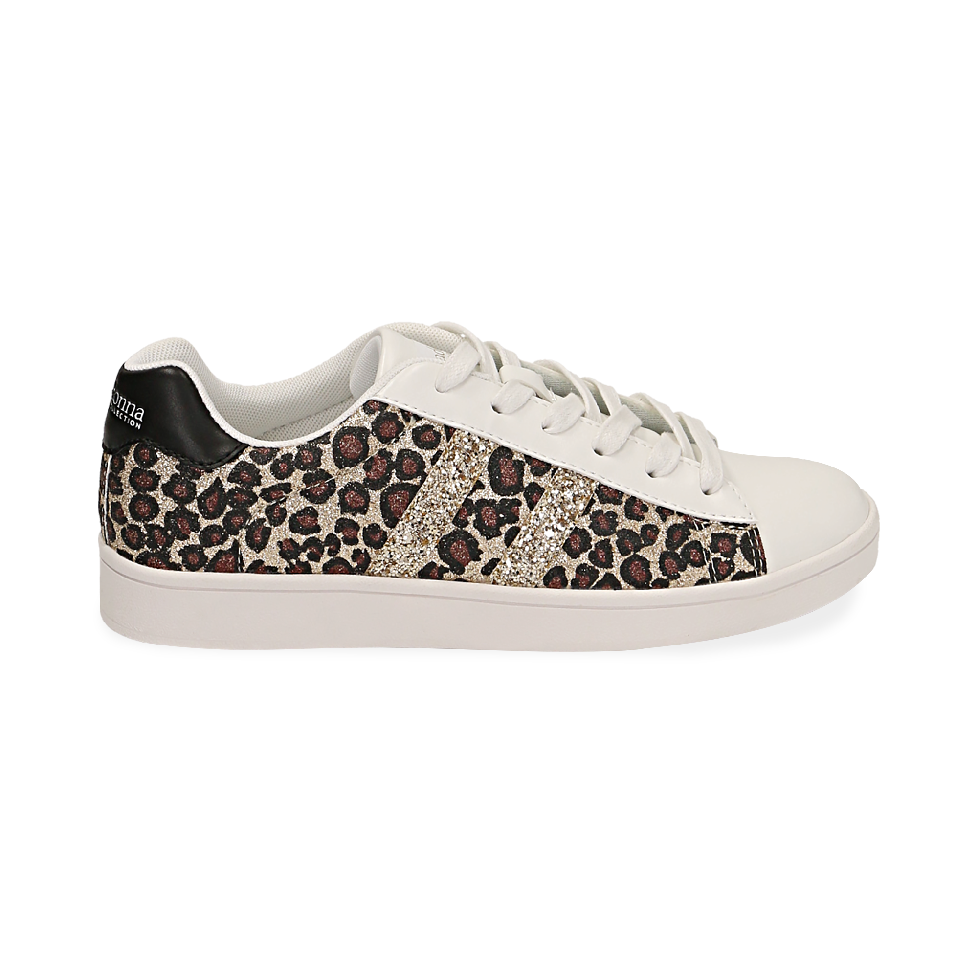 Snaeakers con purpurina color leopardo