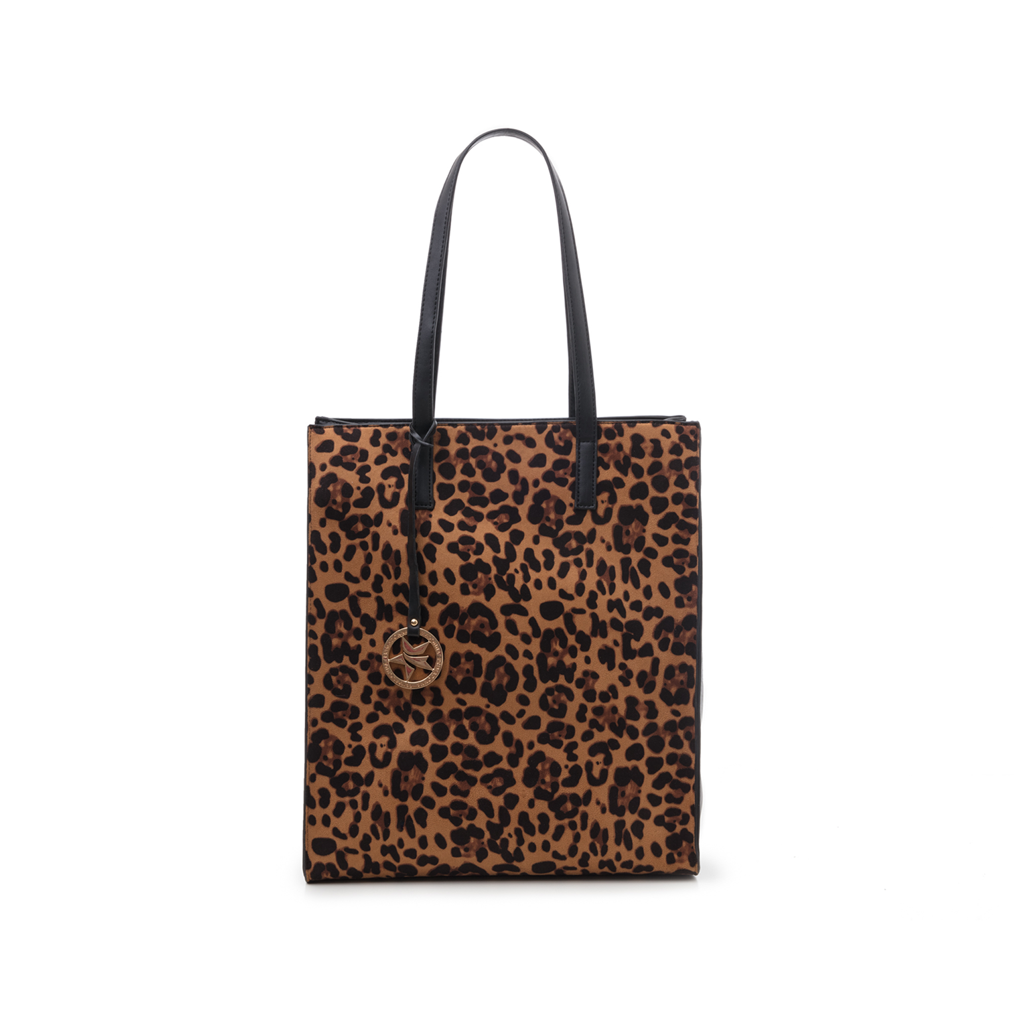 Maxi bag leopard in microfibra