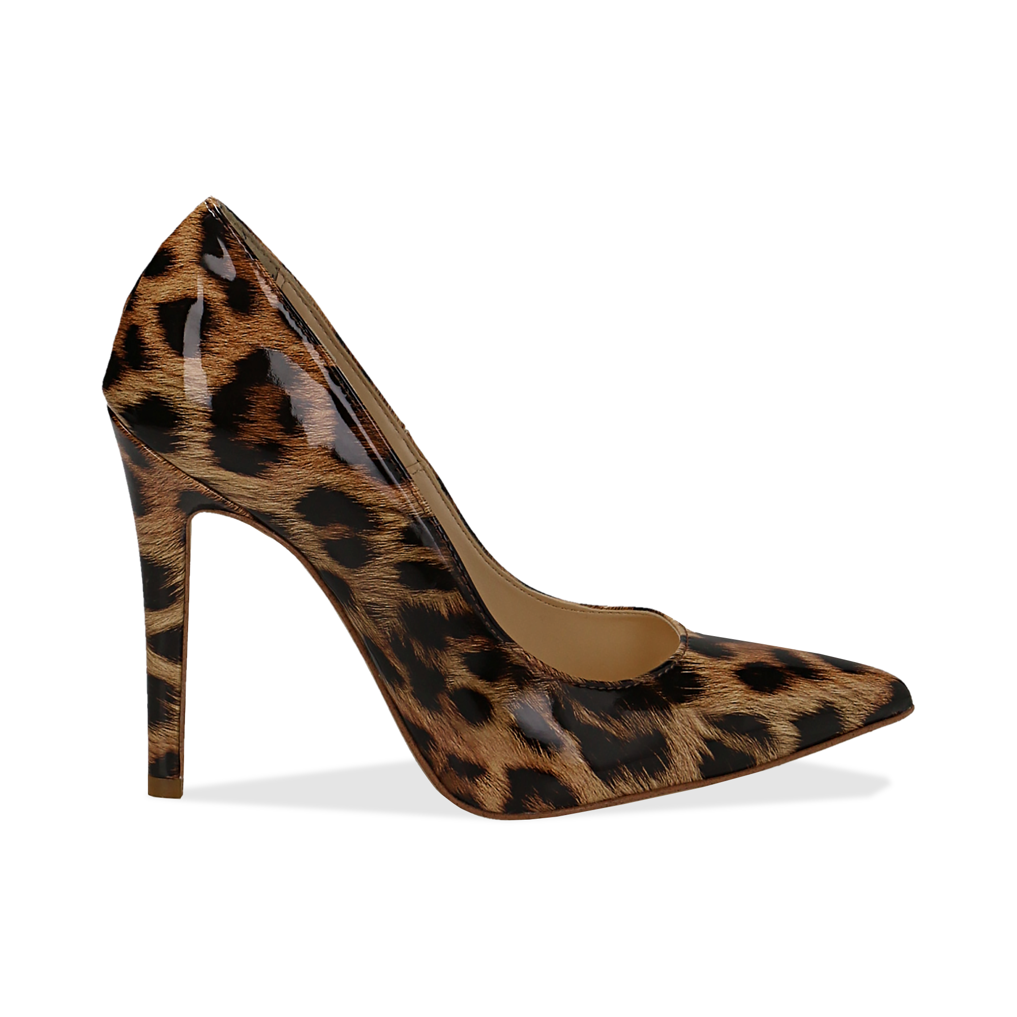 Décolleté leopard in vernice, tacco stiletto 11 cm