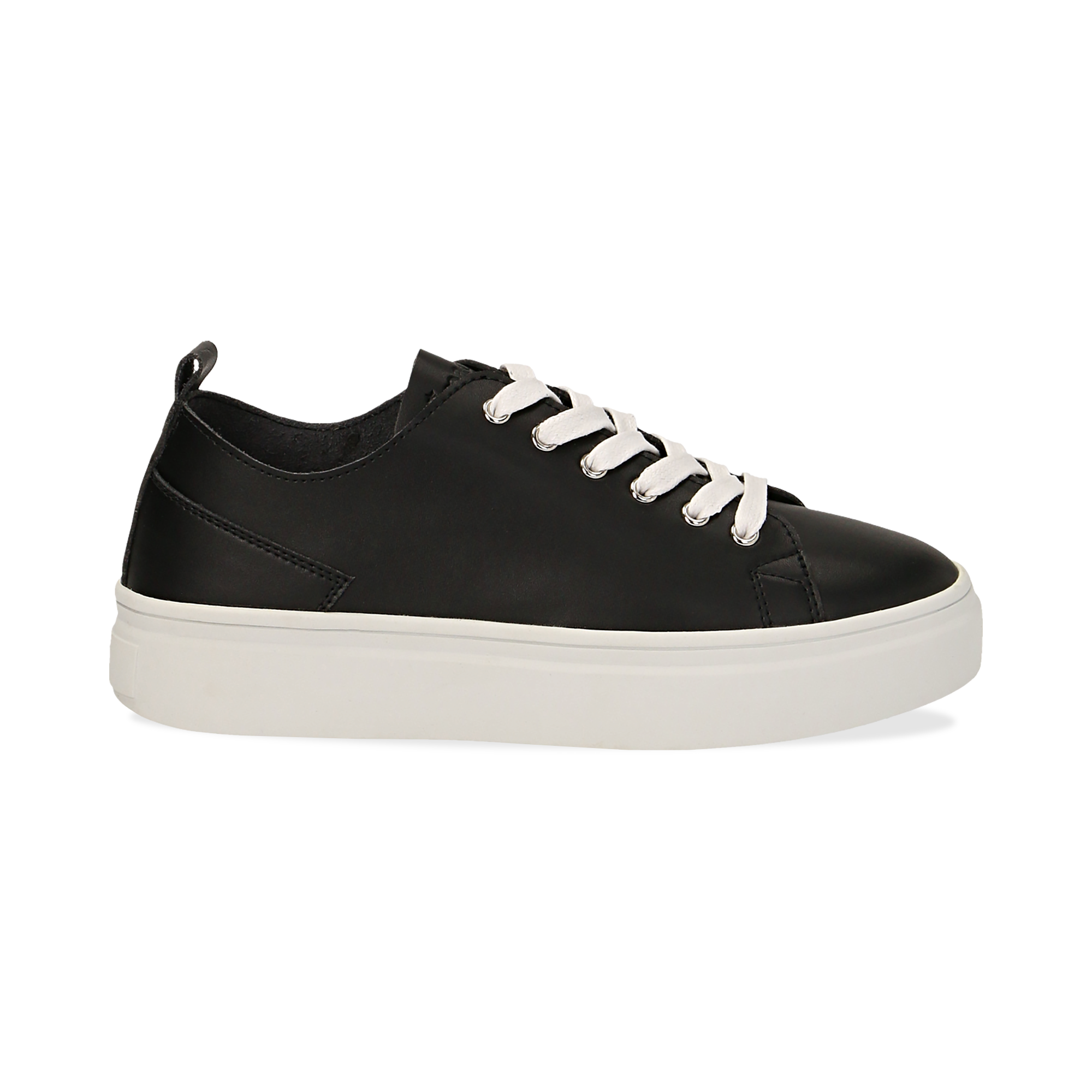Sneakers de eco-piel color negro
