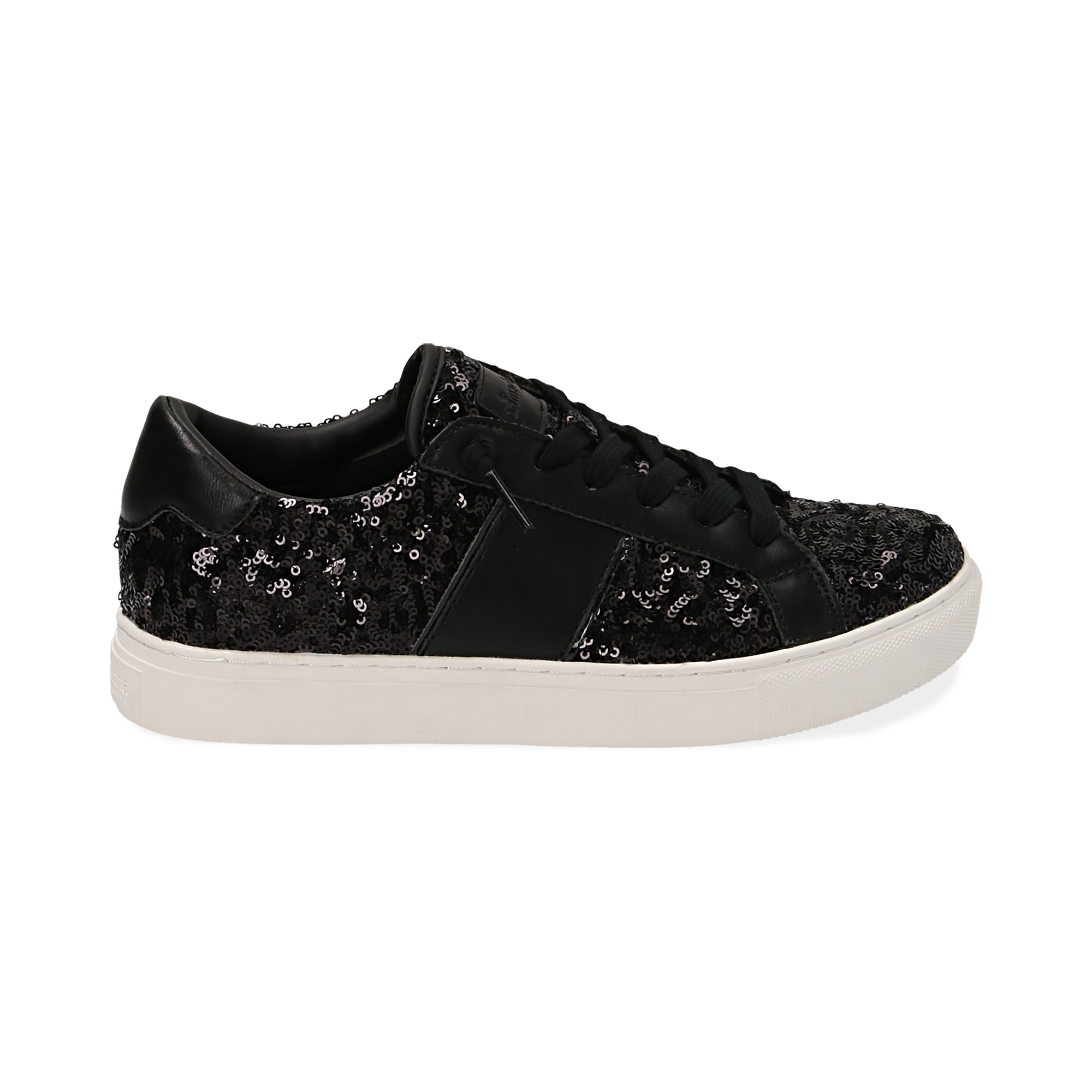 Sneakers nere con paillettes