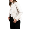 Chaqueta biker en eco-piel color blanco