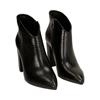Ankle boots neri stampa vipera, tacco 9 cm