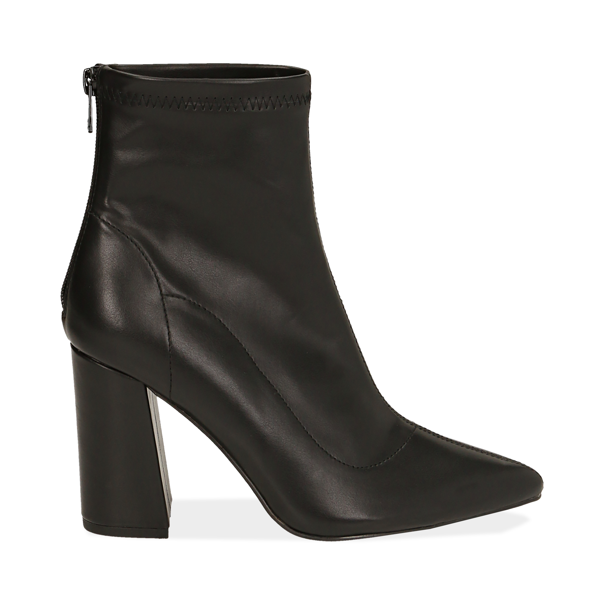 Ankle boots neri, tacco 9 cm