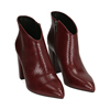 Ankle boots bordeaux stampa vipera, tacco 9 cm