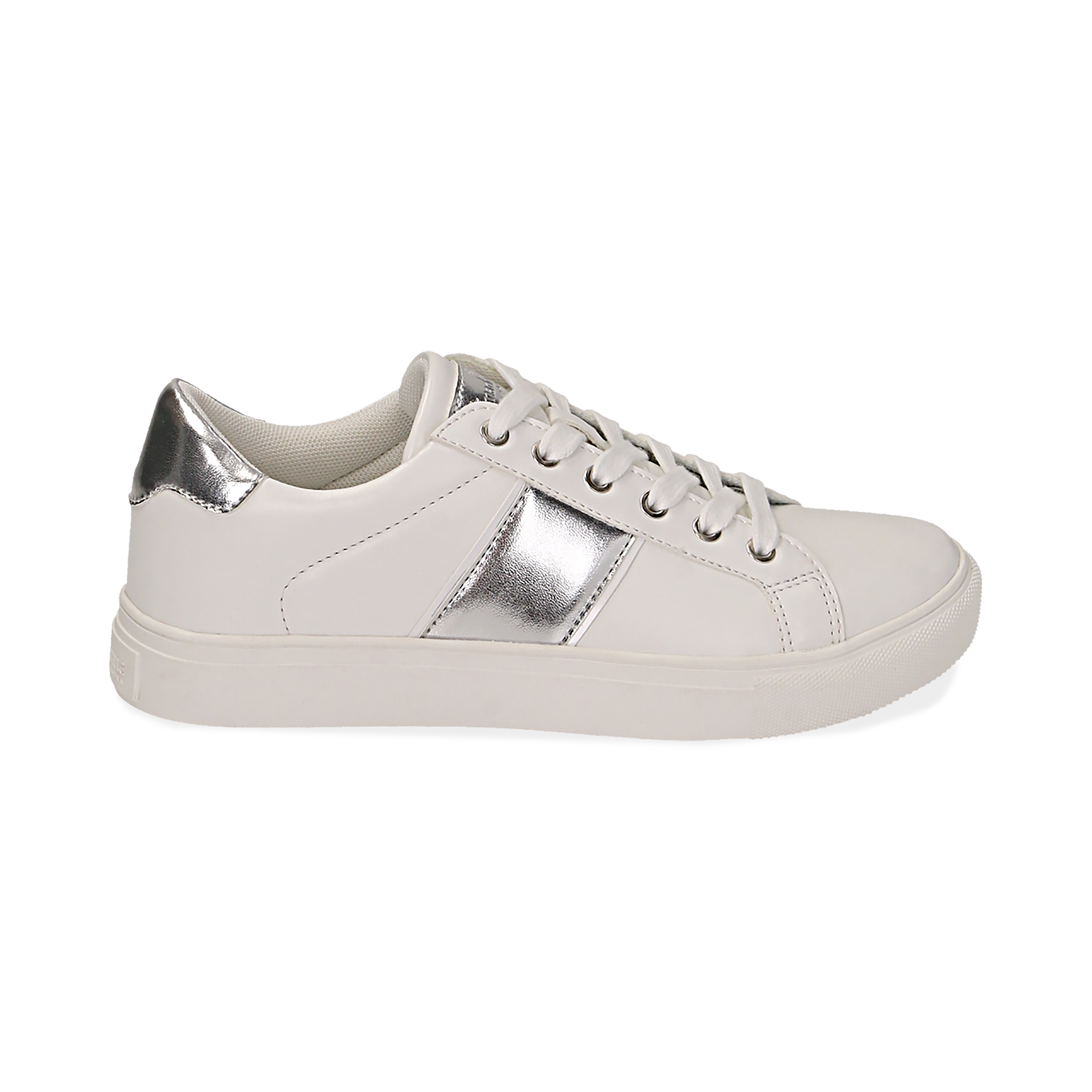 Sneakers de ecopiel en color blanco