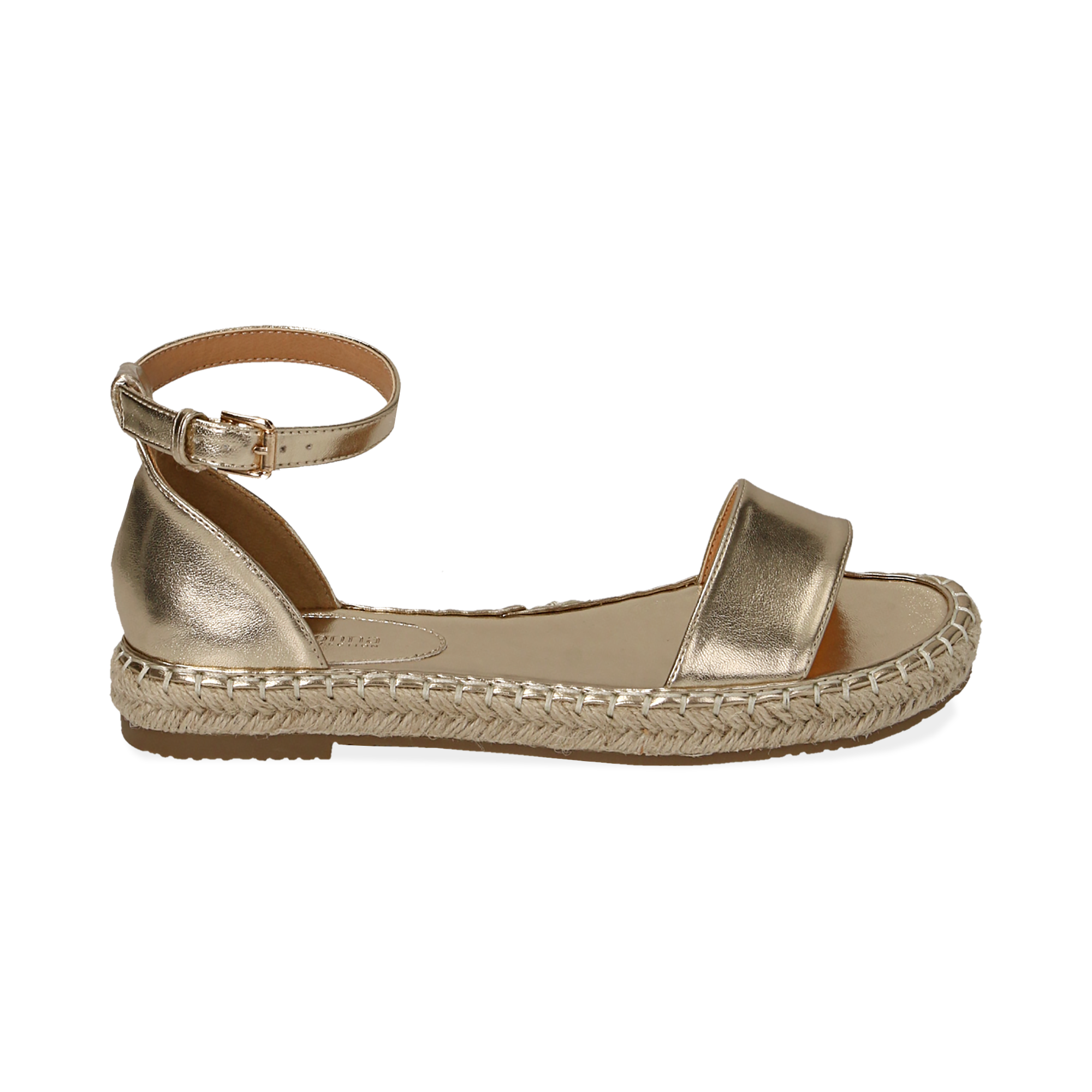 WOMEN SHOES ESPADRILLAS LAMINATED OROG