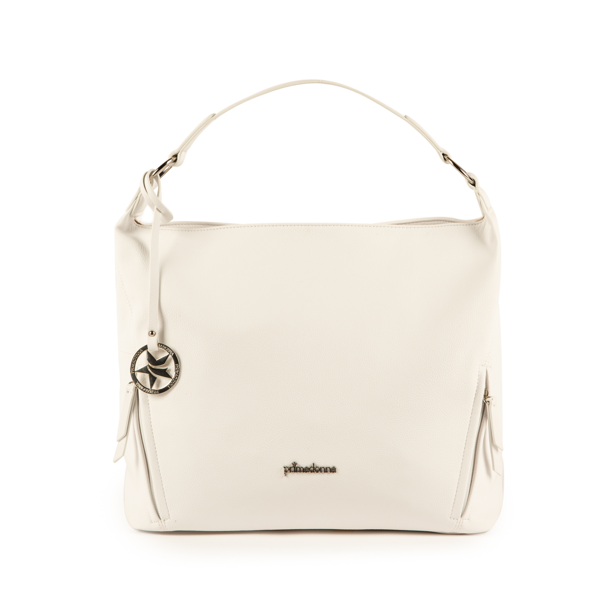Maxi-bag de ecopiel en color blanco
