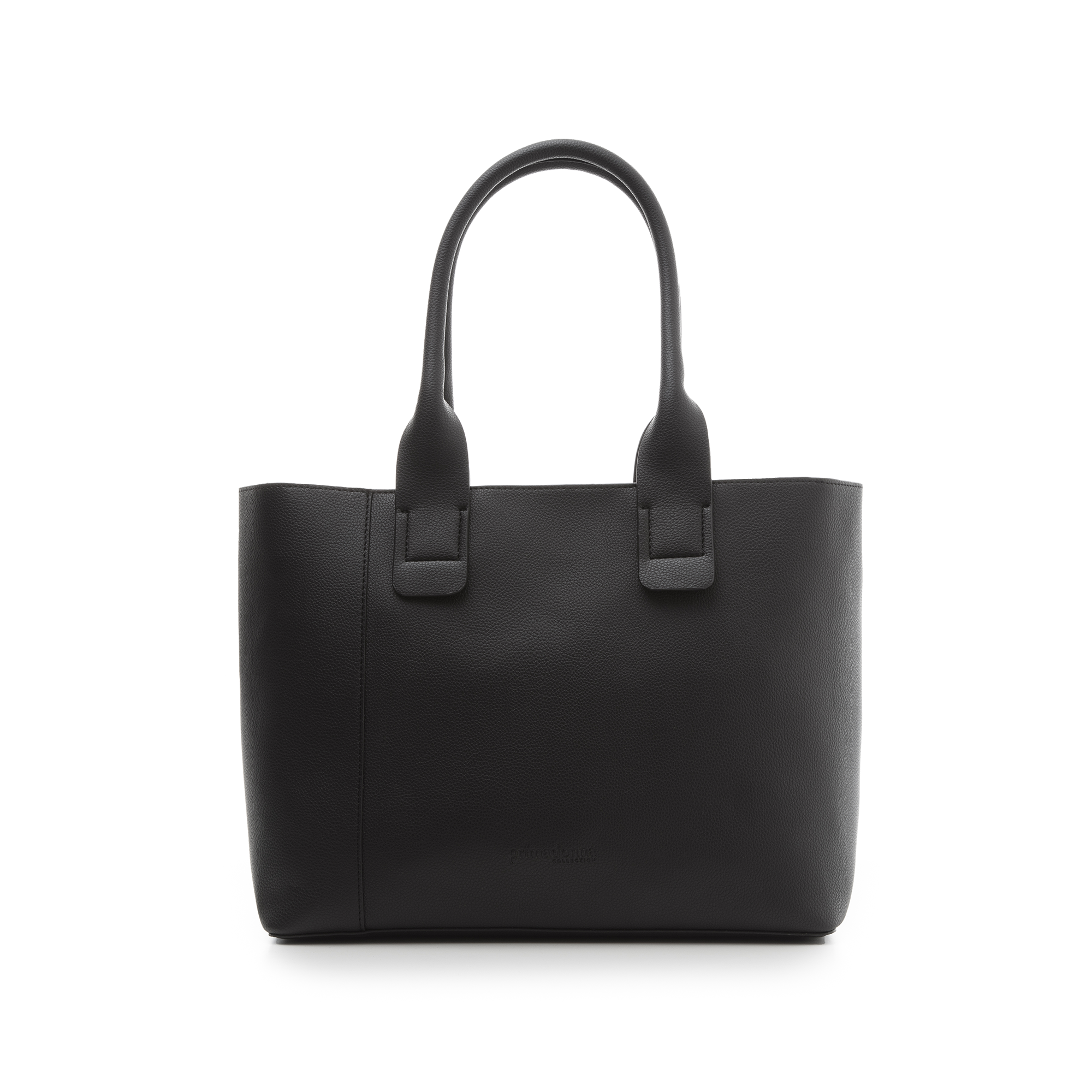 Borsa media nero in eco-pelle