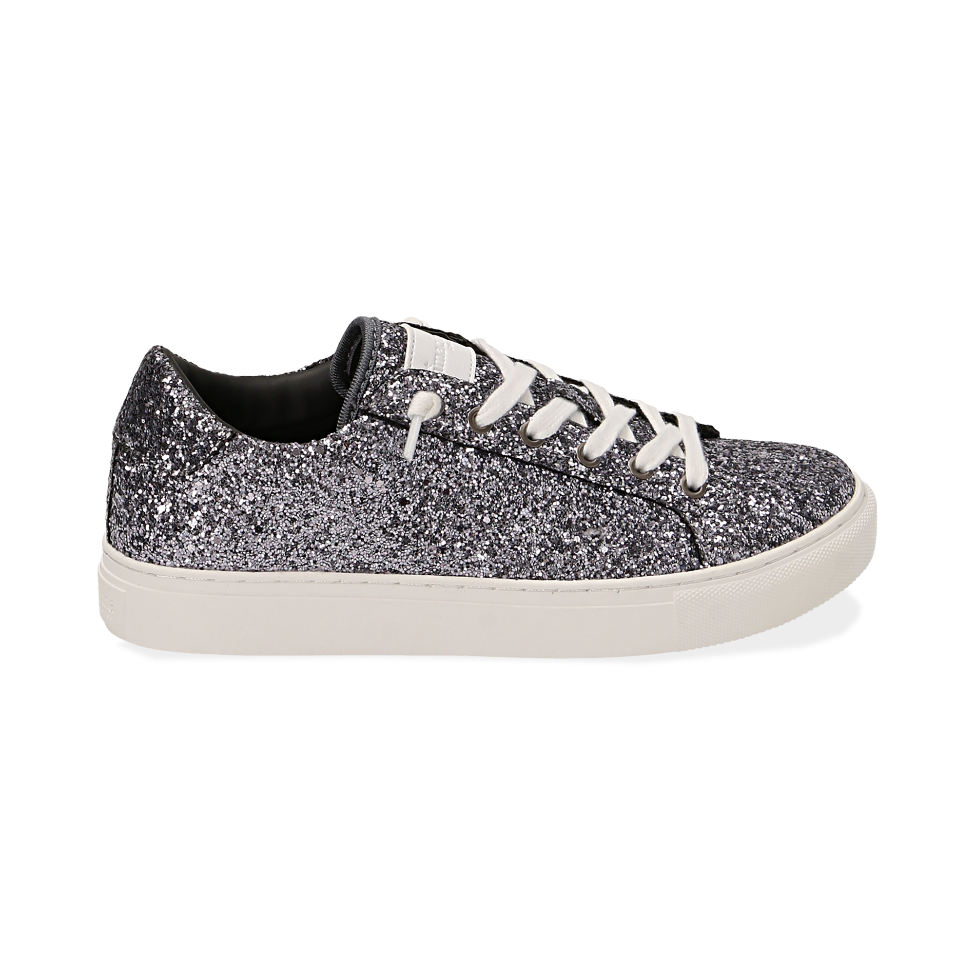 Sneakers argento glitter