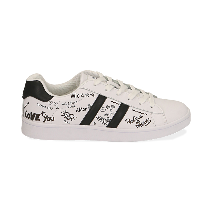 Sneakers blancas estampado cartoon