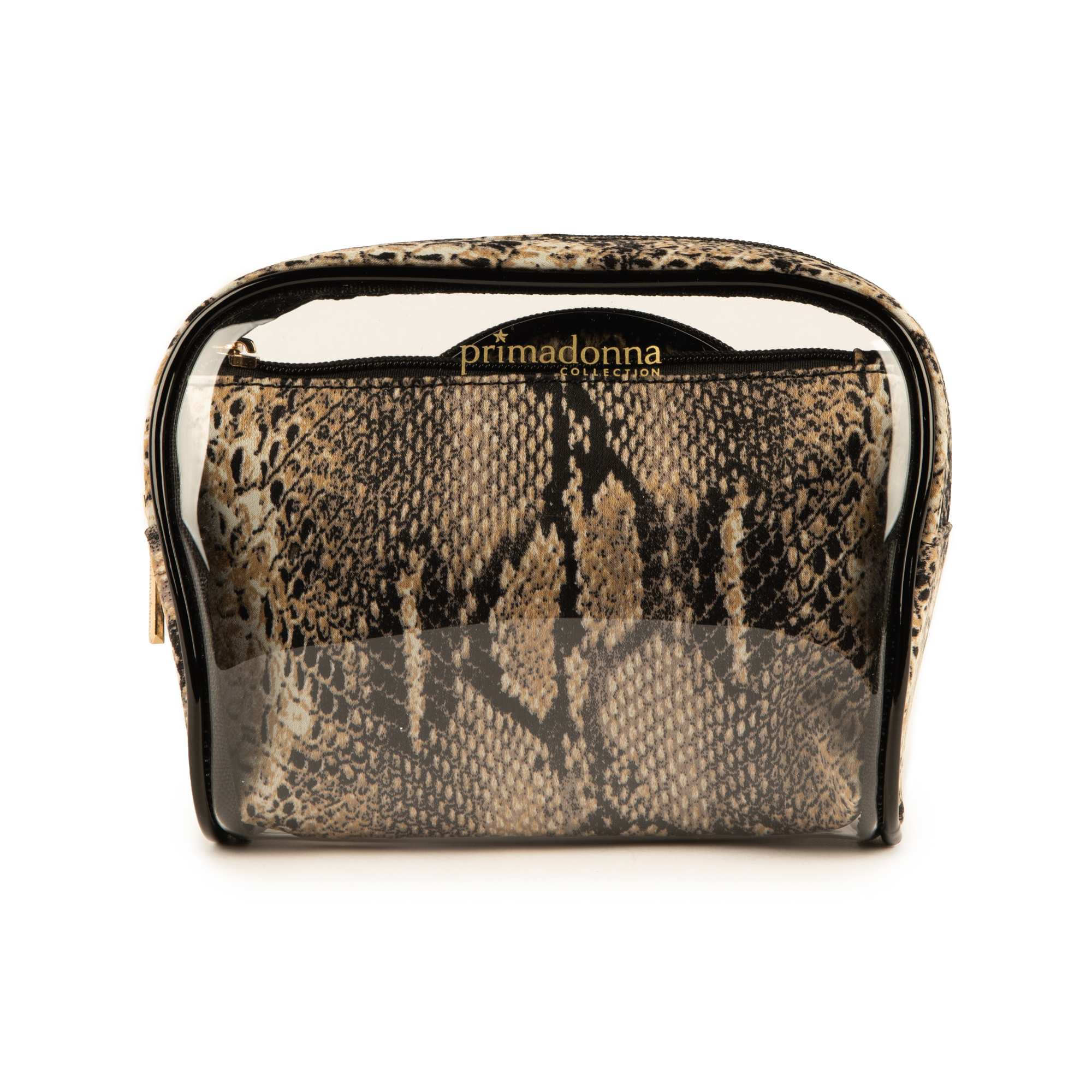 Trousse snake print in pvc
