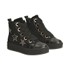 Sneakers nere in velluto con stelle